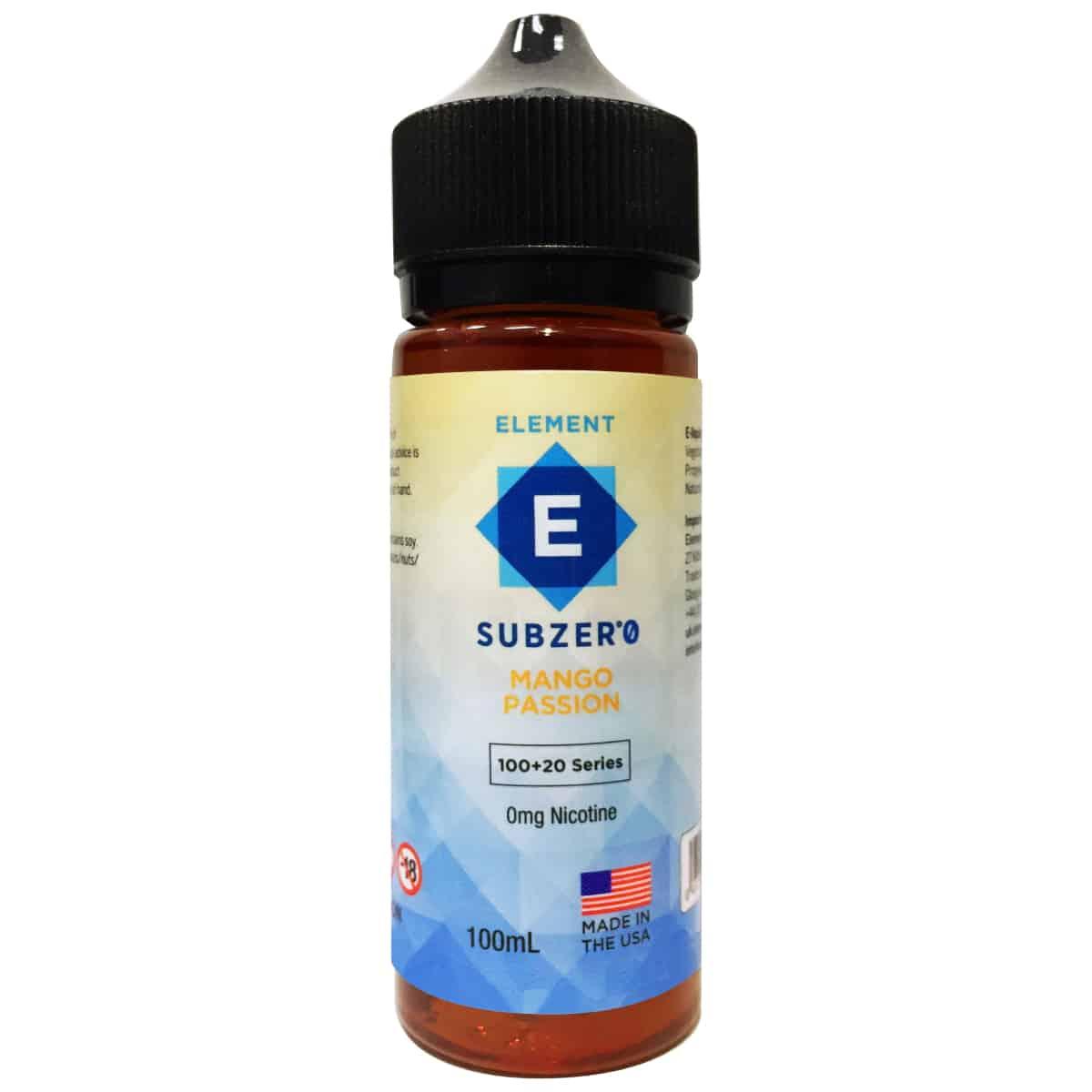 Mango Passion Element Subzero Shortfill 100ml