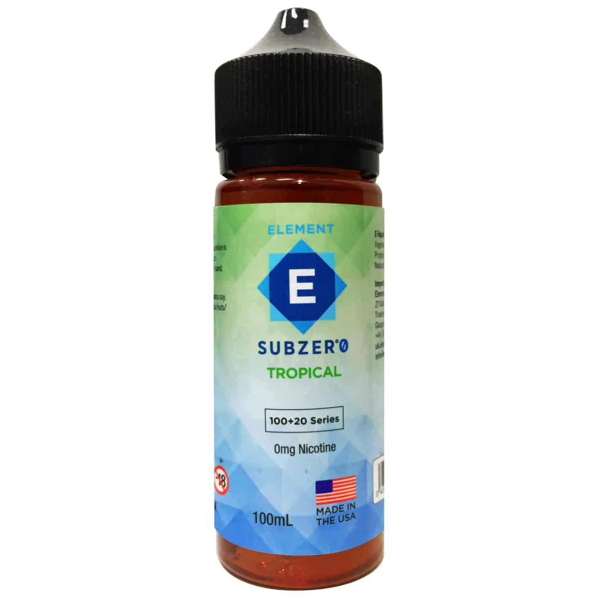 Tropical Element Subzero Shortfill 100ml