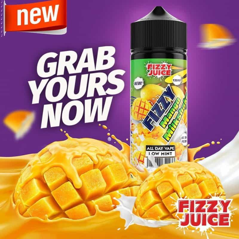 Mango Milkshake Fizzy Shortfill 100ml