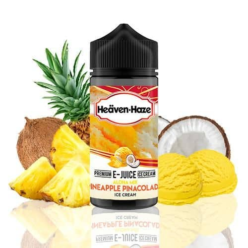 Aloha Mix Pineapple Pinacolada Ice Cream Heaven Haze Shortfill 100ml