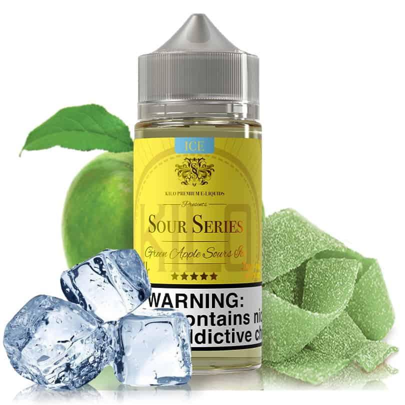 Green Apple Sours Ice Kilo Sour Series Shortfill 100ml
