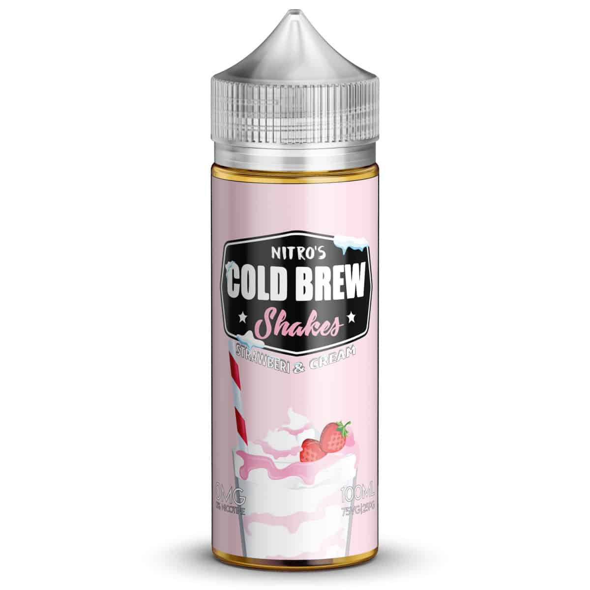 Strawberi & Cream Nitros Cold Brew Shakes Shortfill 100ml