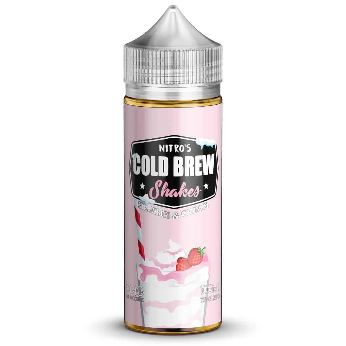 Strawberi & Cream Nitros Cold Brew Shakes Shortfill 100ml