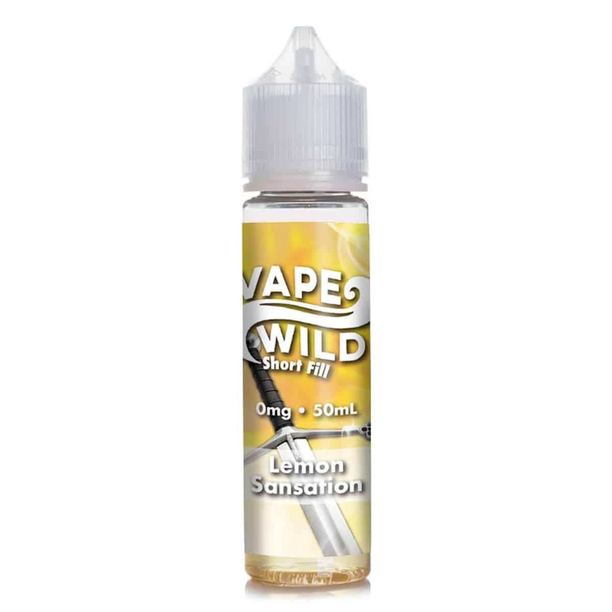 Lemon Sensation Vape Wild Shortfill 50ml