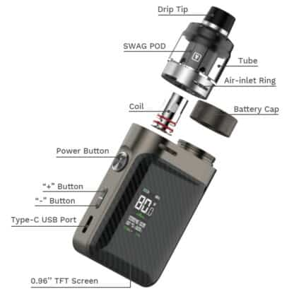 Vaporesso Px80 Exploded View