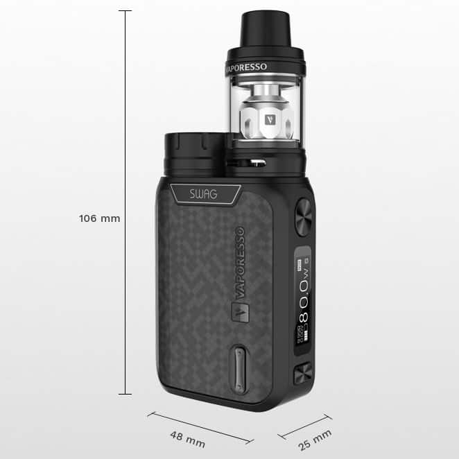 Vaporesso Swag Kit Measurements